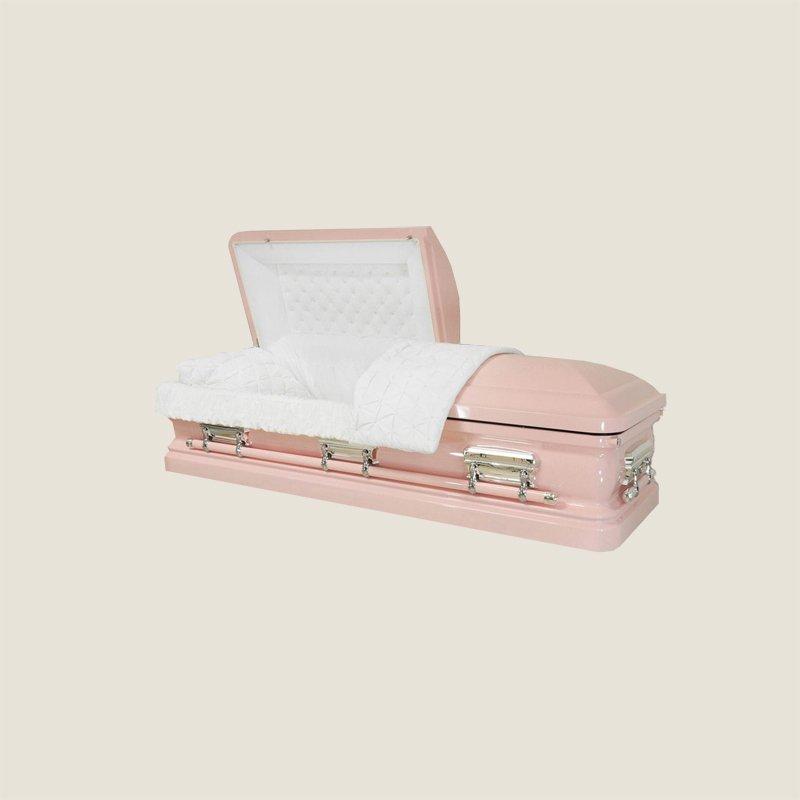 18 Gauge Gasketed Half Couch Light Pink Casket