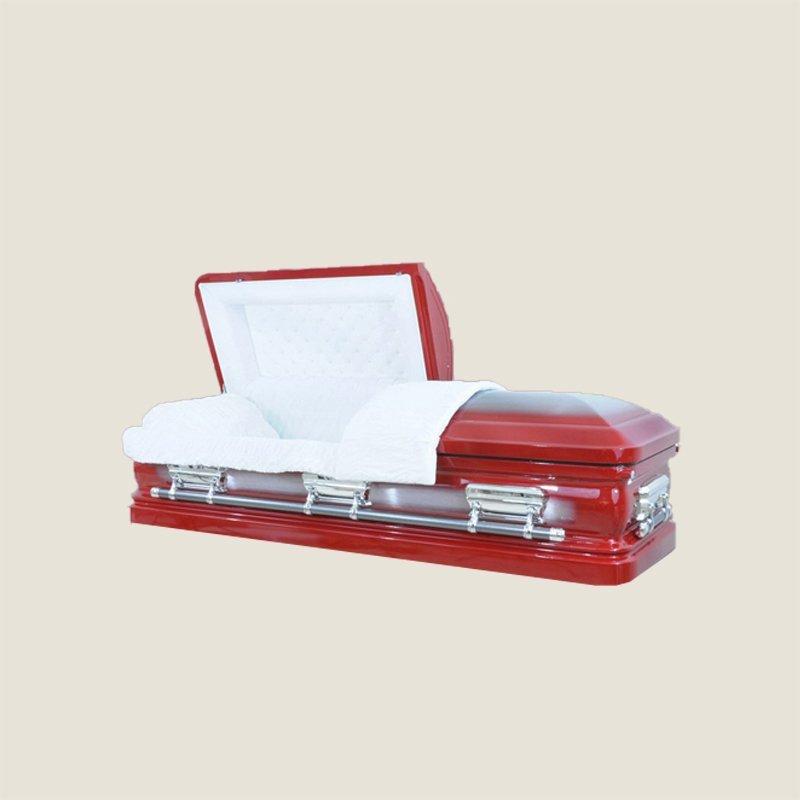 18 Gauge Gasketed Red Casket