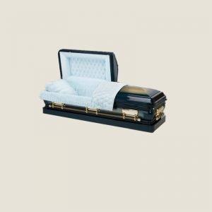 18 Gauge Gasketed Half Couch Sapphire Blue Casket