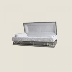 18 Gauge Gasketed Full Couch Silver Multi Size Casket