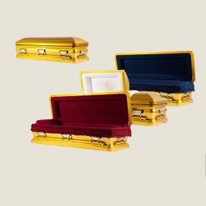 18 Gauge Gasketed Gold Casket
