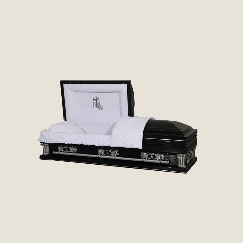 20 Gauge Gasketed Half Couch Black With Gold Casket