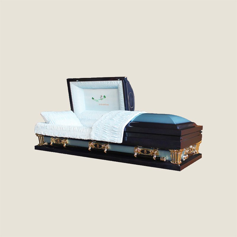 20 Gauge Gasketed Half Couch Blue Casket