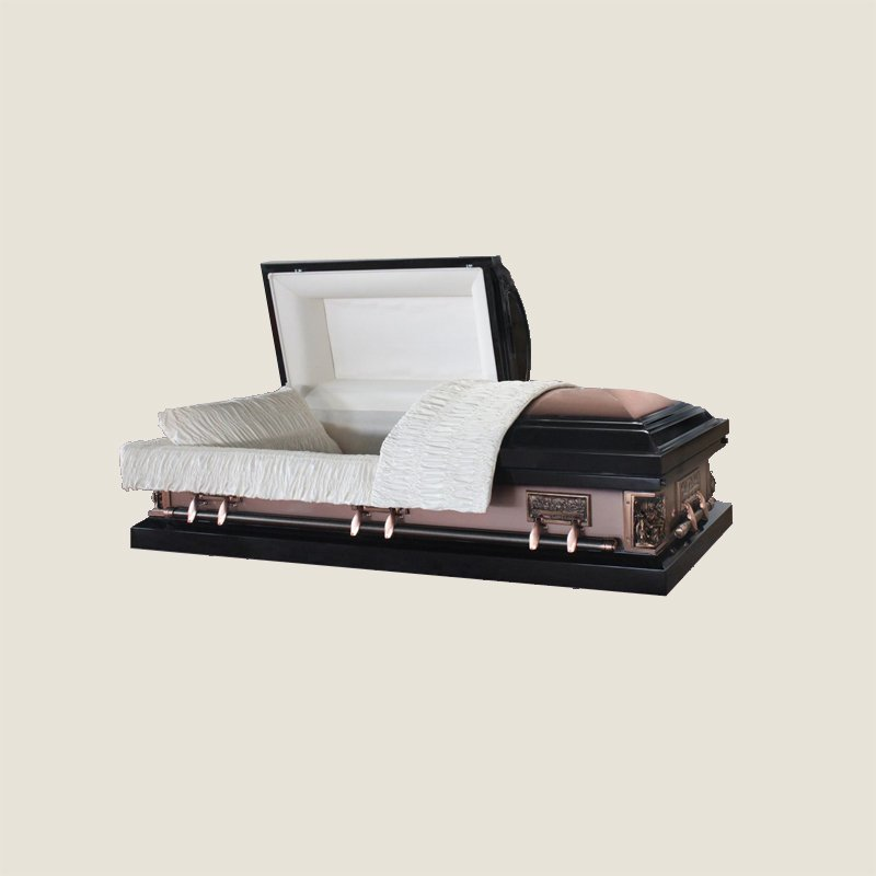 20 Gauge Gasketed Ivory Crepe Bronze Casket