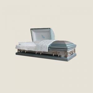 20 Gauge Gasketed Half Couch Blue Casket