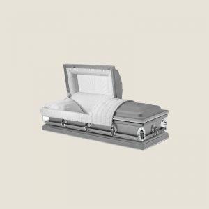 20 Gauge Gasketed Half Couch Saturn Sliver Casket