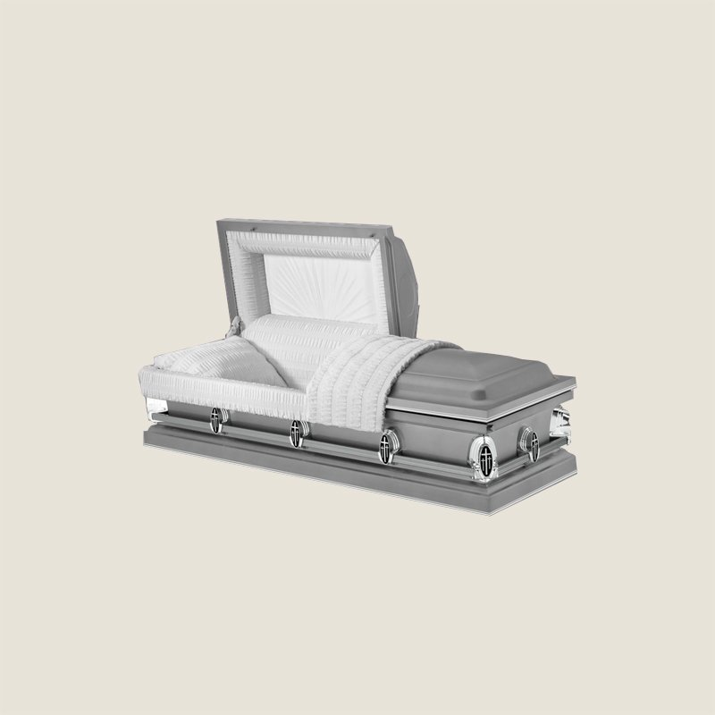 20 Gauge Gasketed Half Couch Saturn Sliver Casket