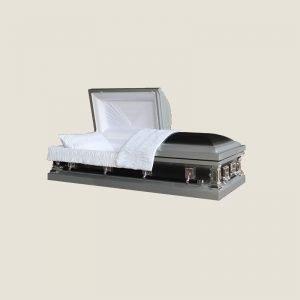 20 Gauge Gasketed Half Couch Ebony Sliver Casket