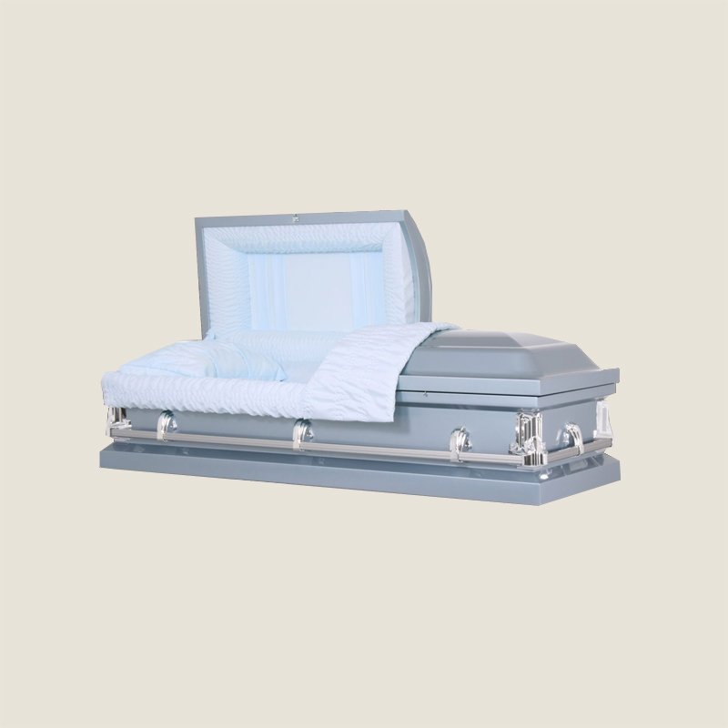 20 Gauge Non-Gasketed Half Couch Blue Casket