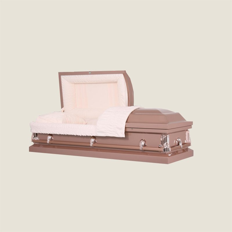 20 Gauge Non-Gasketed Half Couch Copper Casket