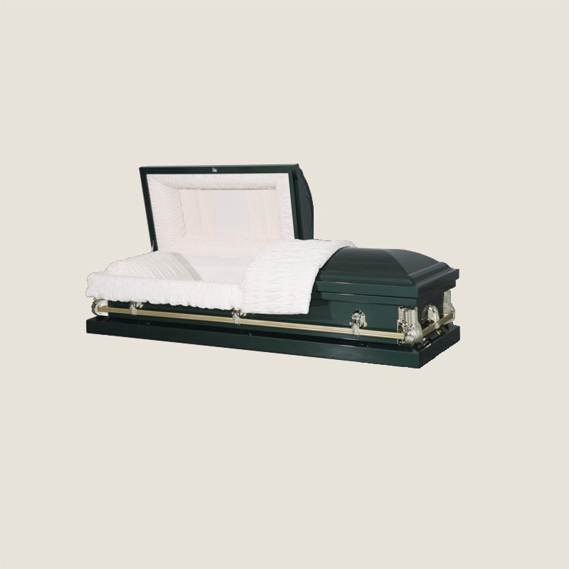 20 Gauge Non-Gasketed Half Couch Dark Green Casket