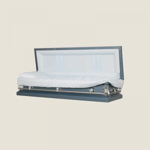 20 Gauge Non-Gasketed Full Couch Blue Crepe Casket