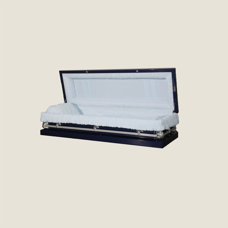 20 Gauge Non-Gasketed Full Couch Cobalt Blue Casket