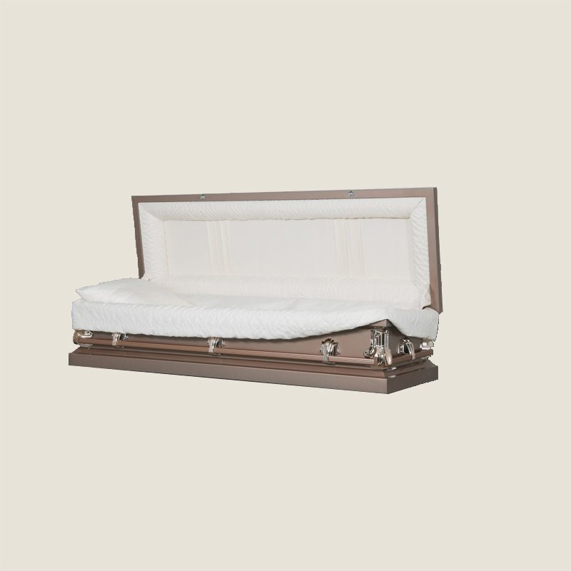 20 Gauge Non-Gasketed Copper With Ivory Crepe Casket