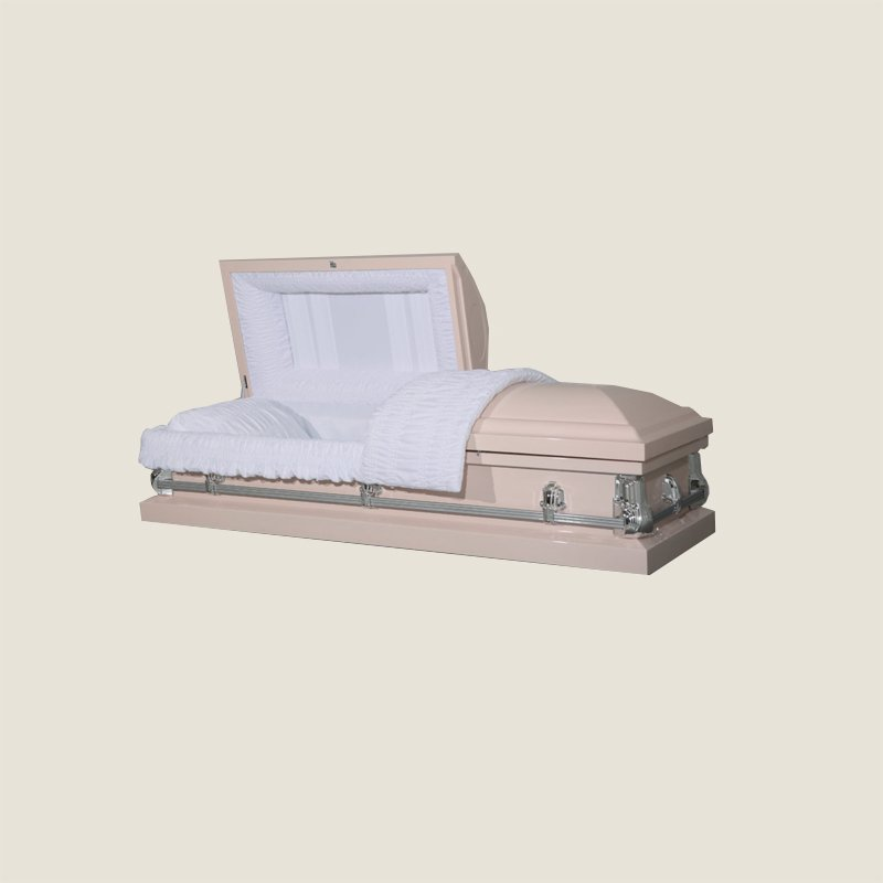 20 Gauge Non-Gasketed Half Couch Light Pink Casket