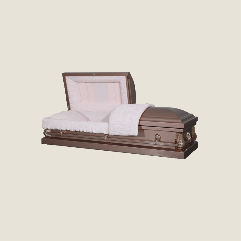 20 Gauge Non-Gasketed Half Couch Pink Rose Casket