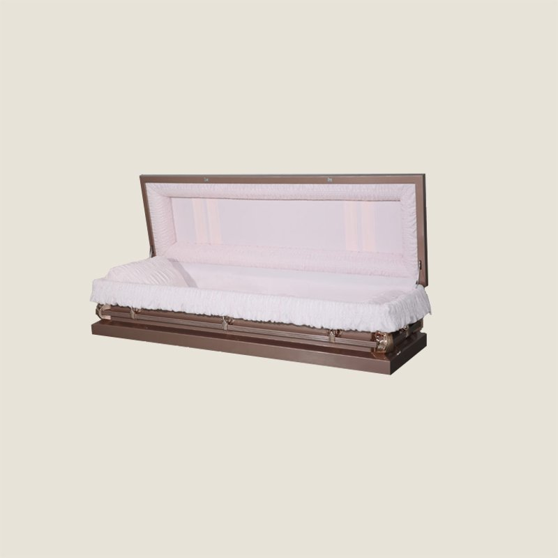 20 Gauge Non-Gasketed Full Couch Pink Rose Casket
