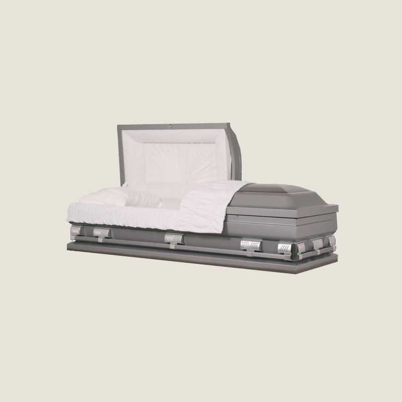 20 Gauge Non-Gasketed Half Couch Sliver Casket
