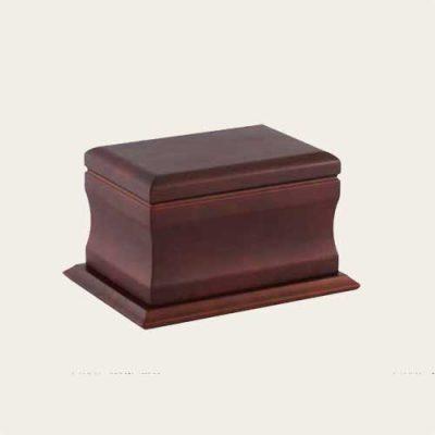 Elegant Wood Amherst Walnut Urn