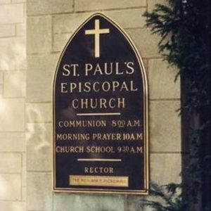 Arched Metal Church Architectural Sign