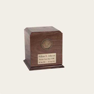 Honoring The Veteran Avon Walnut Urn