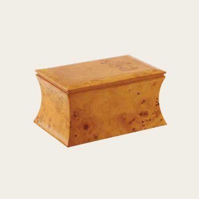 Elegant Wood Bailey Burlwood Veneer Urn