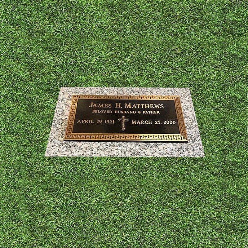 Bordered Bronze Grave Marker