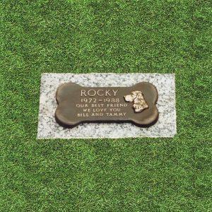 Bronze Bone Pet Grass Marker