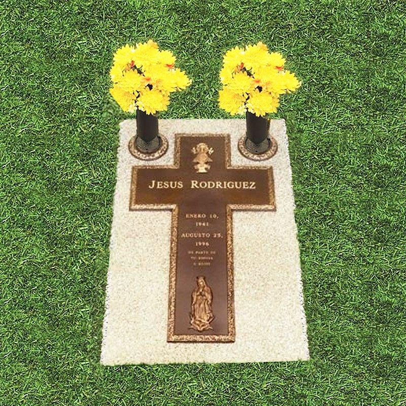 Bronze Cross Grass Marker