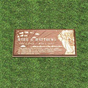 Bronze Jesus Engraved Grass Marker