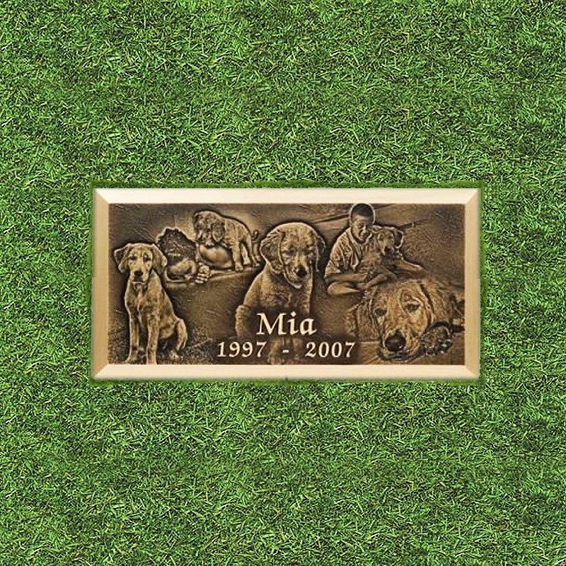 Bronze Engraved Pet Grass Marker