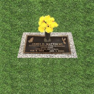 Bronze Grass Marker With Praying Hands