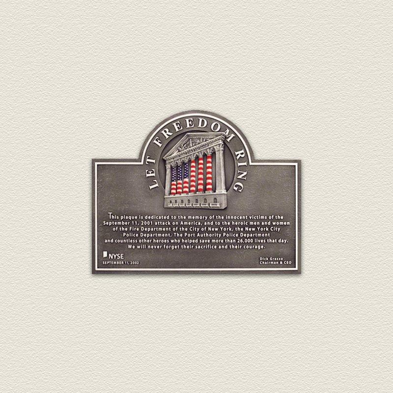 Cast Aluminum Freedom Architectural Sign