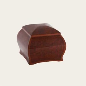 Elegant Wood Ceylon Wood Veneer Urn