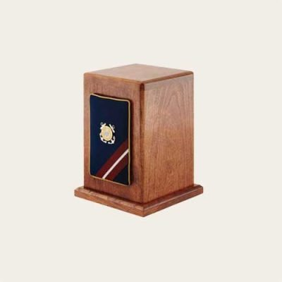 Honoring The Veteran Coast Guard Military Cherry Panel Urn