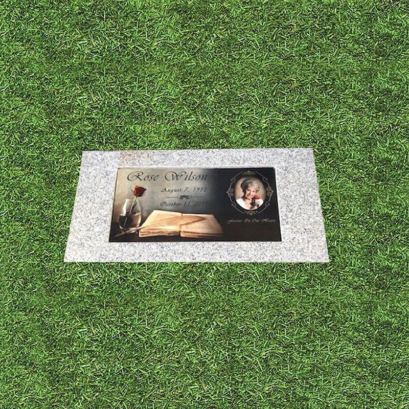 Color Porcelain Photo Bronze Grave Marker