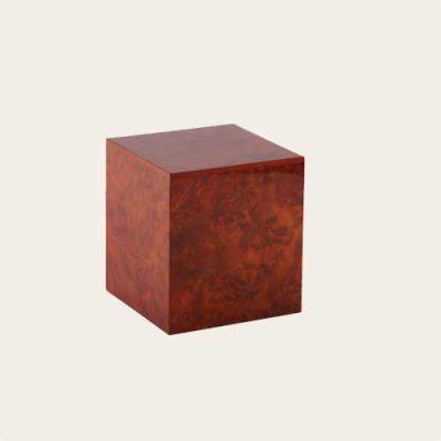 Dark Burl Elm Wood Veneer Urn