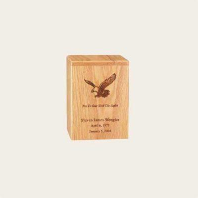 Elegant Wood Davidson Oak Urn