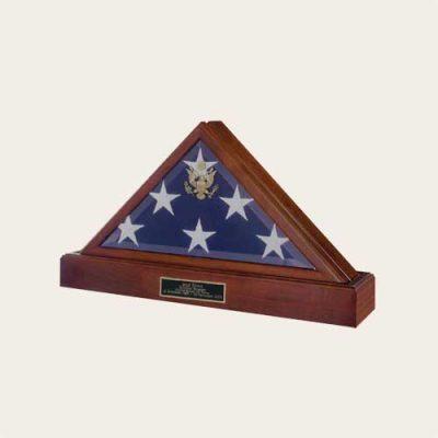 Honoring The Veteran Flag Case With Pedestal Urn