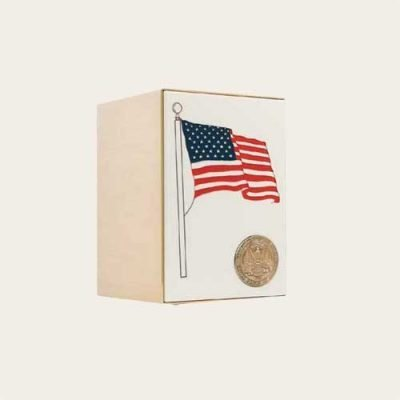 Honoring The Veteran Flag Panel Bronze Urn