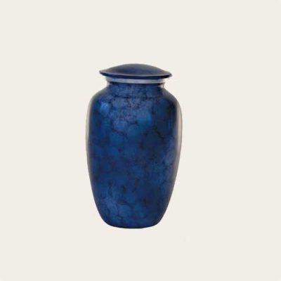 Economy Hudson Blue Aluminum Urn