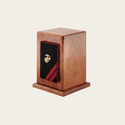 Honoring The Veteran Marines Military Cherry Panel Urn