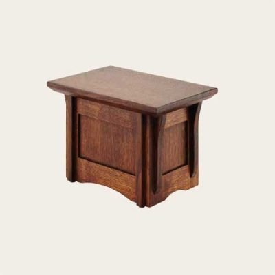 Elegant Wood Mission Oak Urn