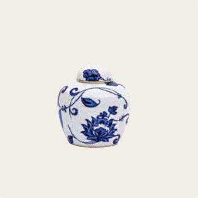 Bernardaud Limoges Prince Blue Keepsake Porcelain Urn