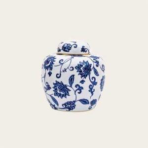 Bernardaud Limoges Prince Blue Montreal Porcelain Urn