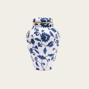 Bernardaud Limoges Prince Blue Toscan Porcelain Urn