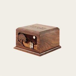 Elegant Wood Together Again Companion Walnut Urn