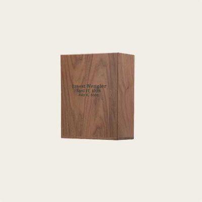 Elegant Wood Walnut Scattering Urn