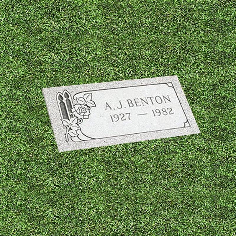 White Granite Grass Marker