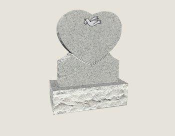 Baby Heart In Composite Granite in Everlasting Blue